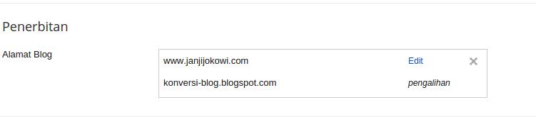 domain berhasil diganti.